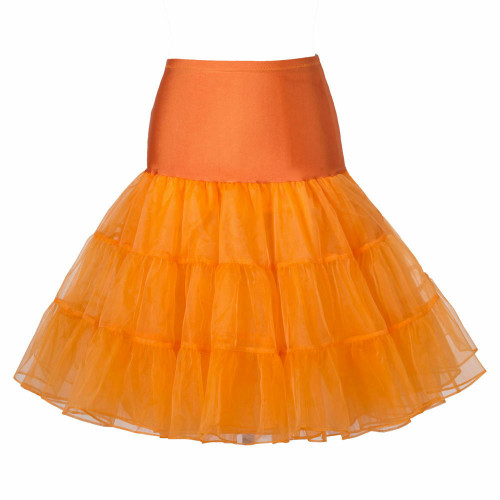 Women Tutu Skirt - Orange