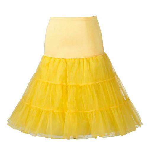Women Tutu Skirt - Yellow
