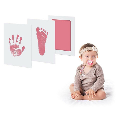 2 Pack Newborn Footprint Handprint-Pink