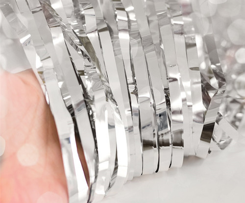 Metallic Tinsel Curtain Foil 2m - Silver