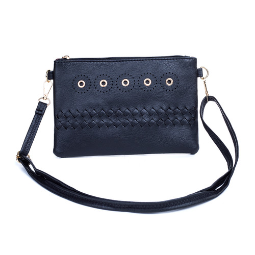 Black Golden Stud Chic Design Crossbody Bag