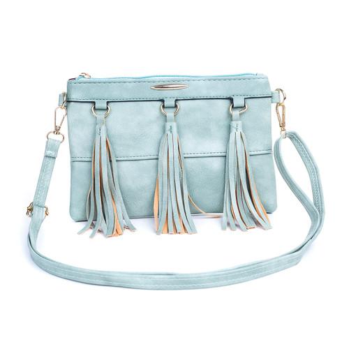 Blue Chic Design with Tassel Crossbody Bag