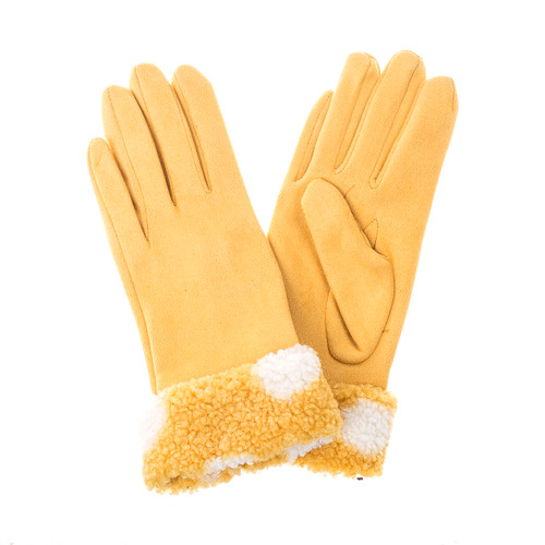Yellow Lady Gloves GL657-6