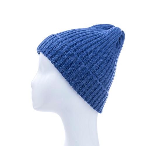 Royal Blue Plain Winter Beanie Hat HATM190-5