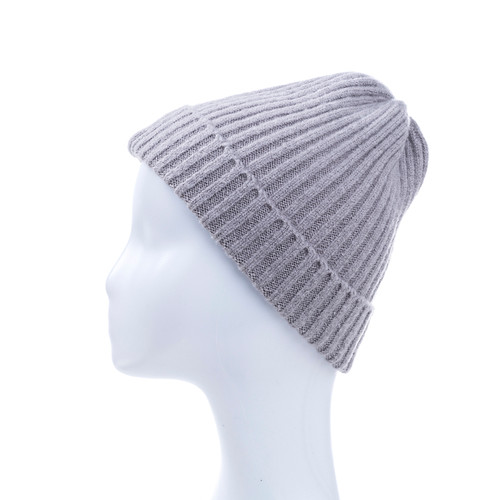 Grey Plain Winter Beanie Hat HATM190-7