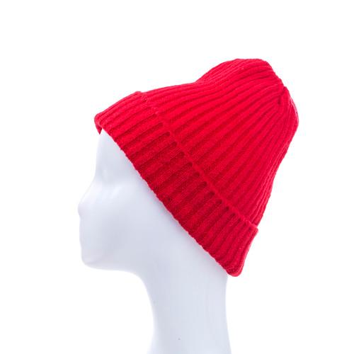 Red Plain Winter Beanie Hat HATM190-14