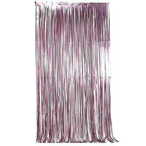 Metallic Tinsel Curtain Foil 2m - Lilac