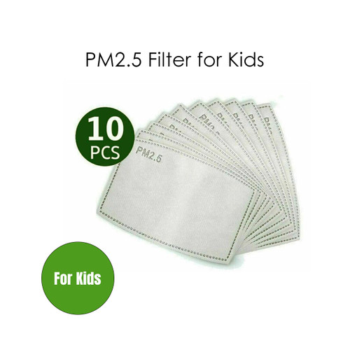 Kids PM2.5 Five Layers Face Mask Filter Activated Carbon Anti Pollution Filters