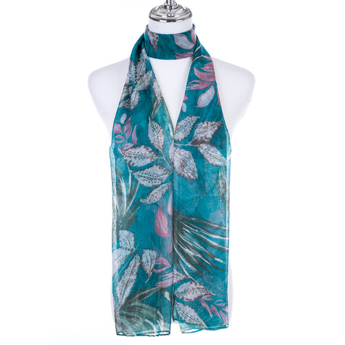 TEAL Lady's Summer Light Weight Scarf SCX883-4