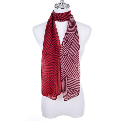 RED Lady's Summer Light Weight Scarf SCX885-2