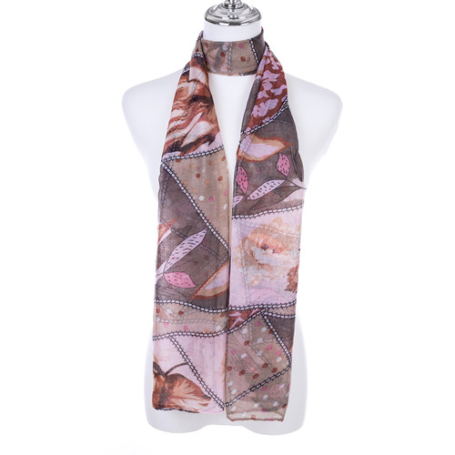 COFFEE Lady's Summer Light Weight Scarf SCX889-1