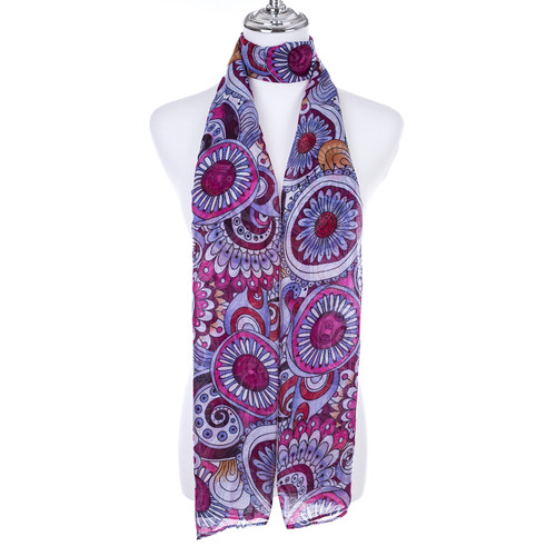 BERRY Lady's Summer Light Weight Scarf SCX890-2