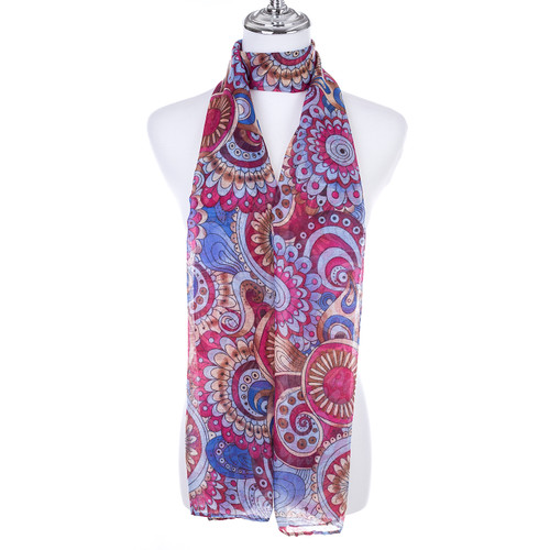 BLUE Lady's Summer Light Weight Scarf SCX890-3