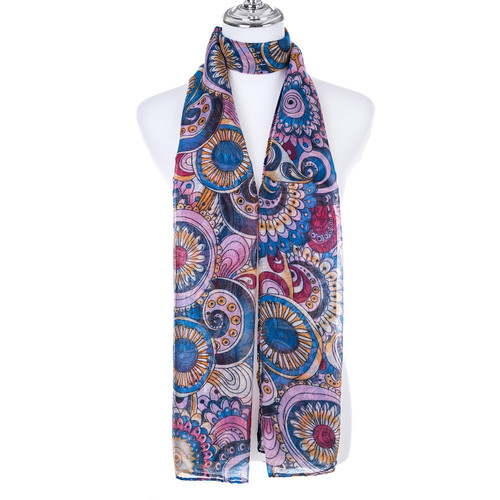 TEAL Lady's Summer Light Weight Scarf SCX890-5