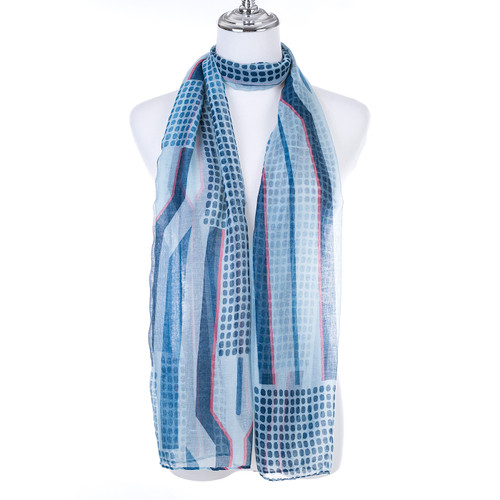 BLUE Lady's Summer Light Weight Scarf SCX895-1