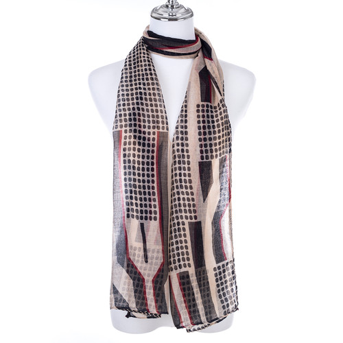 BROWN Lady's Summer Light Weight Scarf SCX895-2