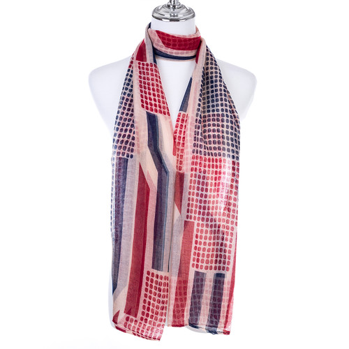 RED Lady's Summer Light Weight Scarf SCX895-3