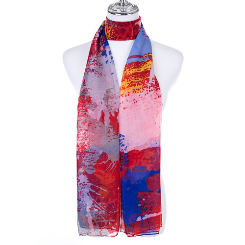 RED Lady's Summer Light Weight Scarf SCX898-1