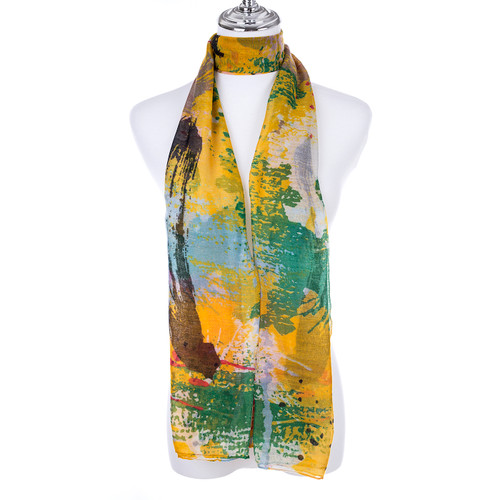 YELLOW Lady's Summer Light Weight Scarf SCX898-6