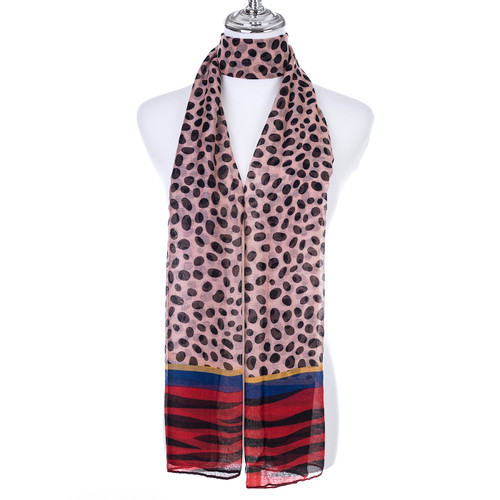 RED Lady's Summer Light Weight Scarf SCX899-1