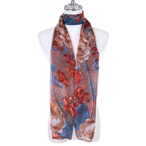 COFFEE Lady's Summer Light Weight Scarf SCX902-3