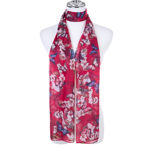 RED Lady's Summer Light Weight Scarf SCX903-3