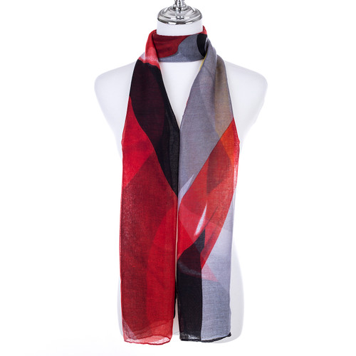 RED Lady's Summer Light Weight Scarf SCX905-6