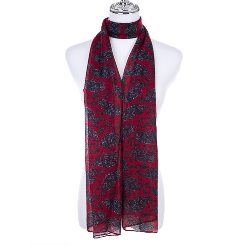 RED Lady's Summer Light Weight Scarf SCX912-3