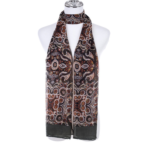 GREEN Lady's Summer Light Weight Scarf SCX913-1