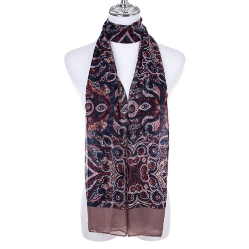 COFFEE Lady's Summer Light Weight Scarf SCX913-4