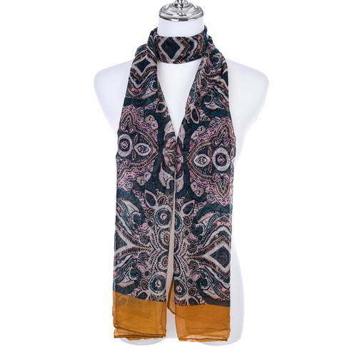YELLOW Lady's Summer Light Weight Scarf SCX913-7