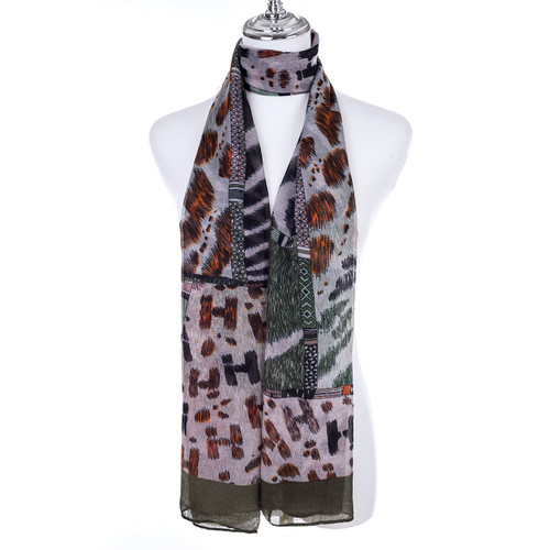 GREEN Lady's Summer Light Weight Scarf SCX918-4