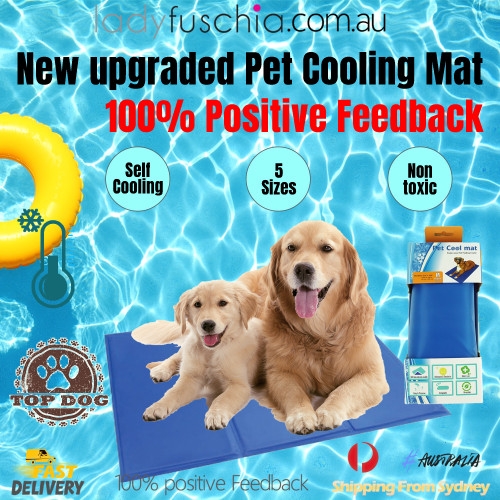 Cool Gel Mat Dog Cat Bed Non-Toxic Cooling Dog Summer Pad 5 Sizes Pet FAST POST