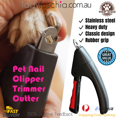 Pet Dog Cat Nail Clippers Toe File Grinder Trimmer Grooming Scissors Claw Steel