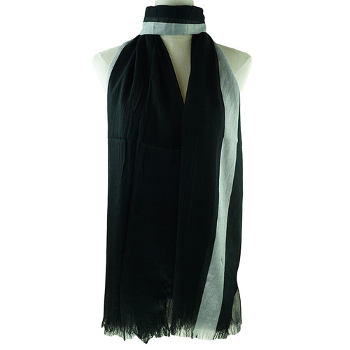 Black White Grey Stripes All Seasons Scarf Premium Quality