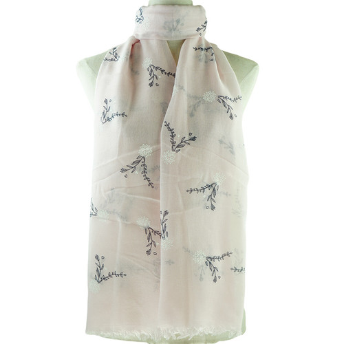 Pink Floral All Seasons Scarf Premium Quality