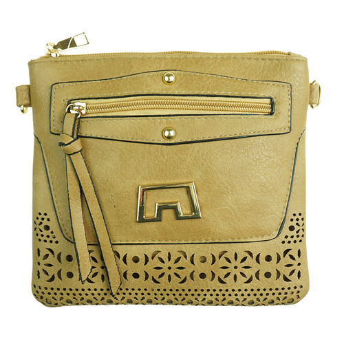 Sand Laser Cut With Matalic design Handbag
