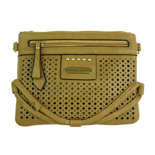 Sand Laser Cut With String Designed Handbag