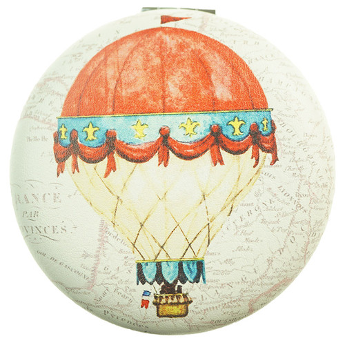 Hot-air Balloon Pattern Round Mirror