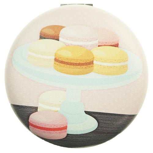 Macaron Pattern Round Mirror