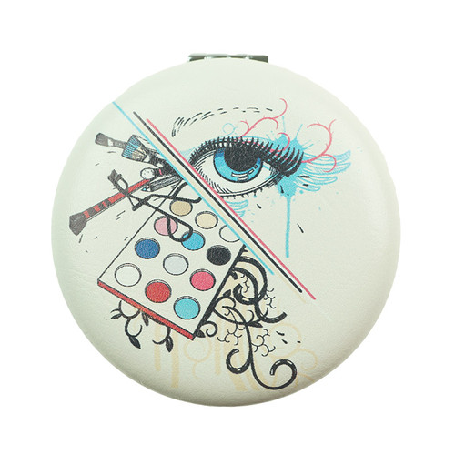 Cosmetics Pattern Round Mirror