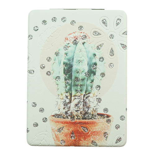 Diamond Cactus Pattern Rectangle Mirror