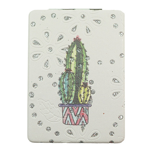 Designed Diamond Cactus Pattern Rectangle Mirror