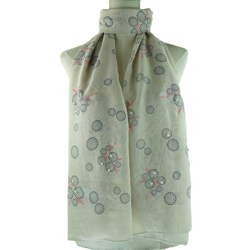 Beige Bubble Pattern All Season Scarf