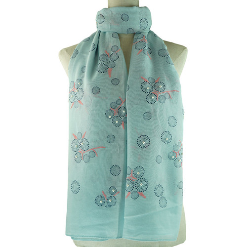 Blue Bubble Pattern All Season Scarf