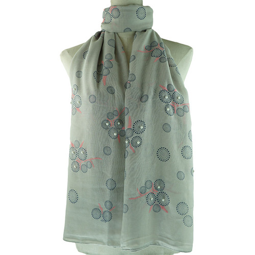 Grey Bubble Pattern All Season Scarf