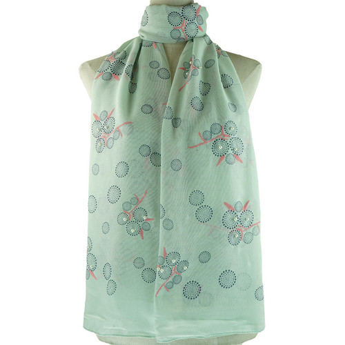 Teal Bubble Pattern All Season Scarf