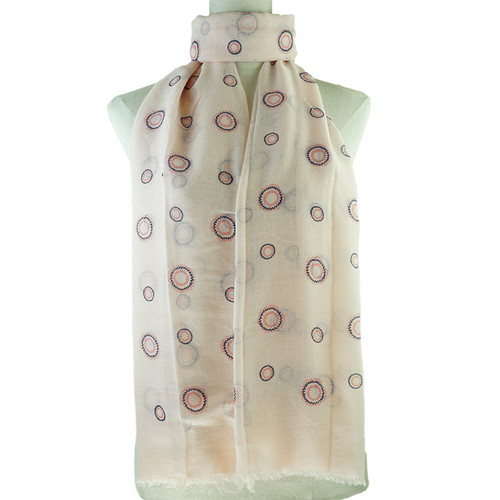 Pink Round Dots All SeasON Scarf