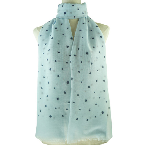 Blue Irregular Dots All Season Scarf