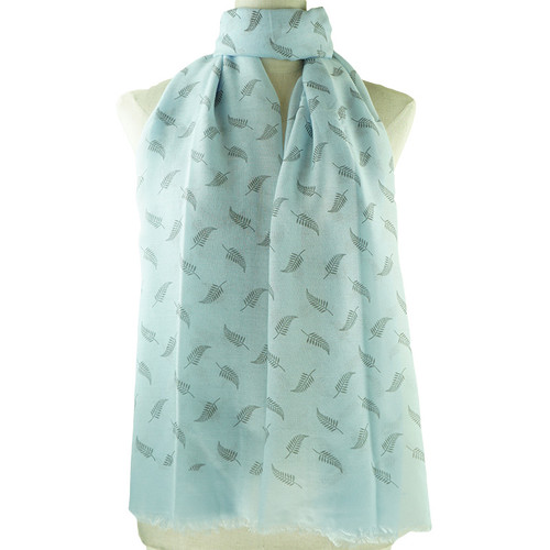 Blue Vintage Leaf Pattern All Season Scarf